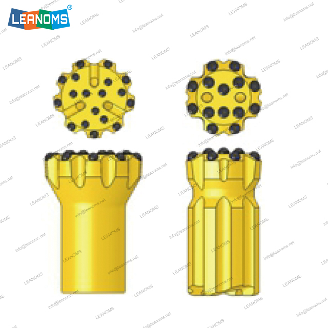89-127mm Normal Or Retrac ST58 Thread Drilling Button Bits