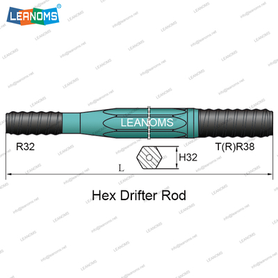 T(R)38-R32 Hex Drifter Drilling Rod