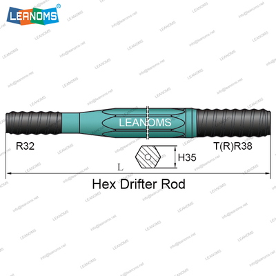 T38-R32 Hex Drifter Drilling Rod